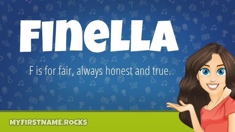 My First Name Finella Rocks!