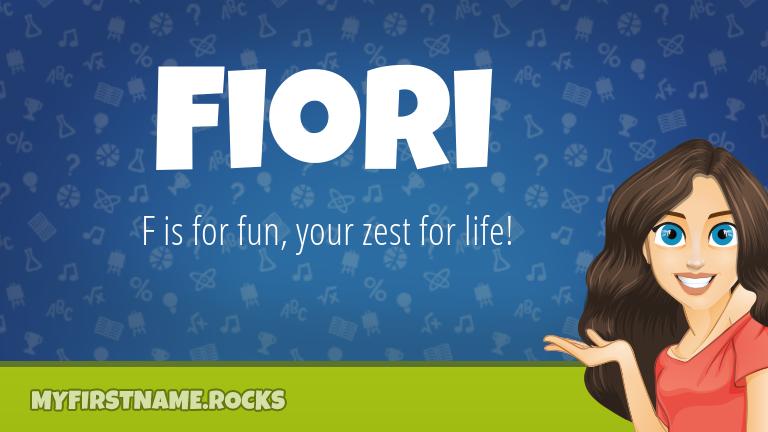 My First Name Fiori Rocks!