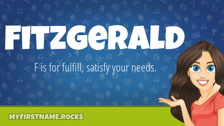 My First Name Fitzgerald Rocks!