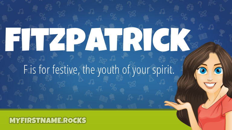 My First Name Fitzpatrick Rocks!