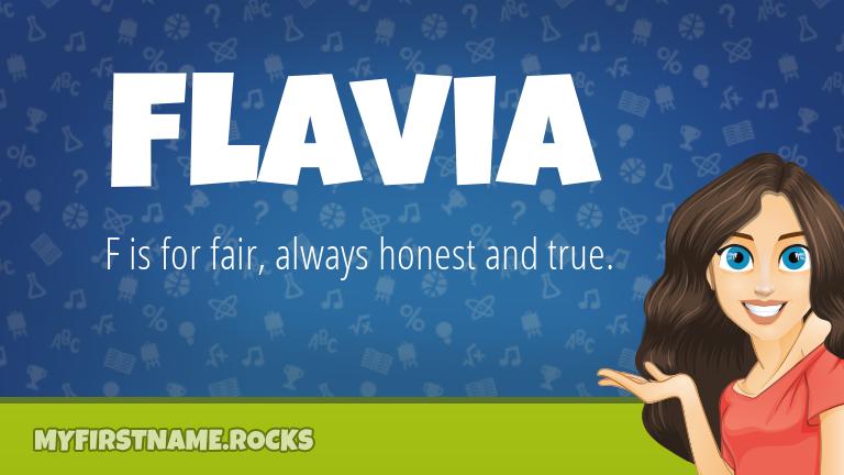 My First Name Flavia Rocks!