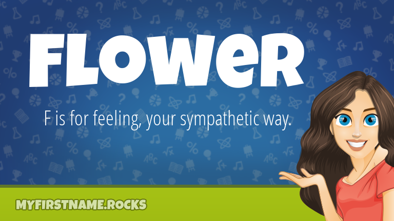 My First Name Flower Rocks!