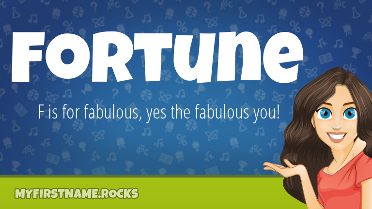 My First Name Fortune Rocks!