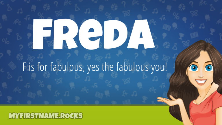 My First Name Freda Rocks!