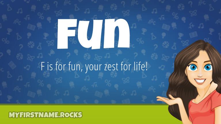 My First Name Fun Rocks!