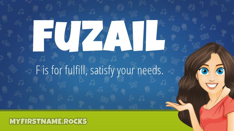 My First Name Fuzail Rocks!