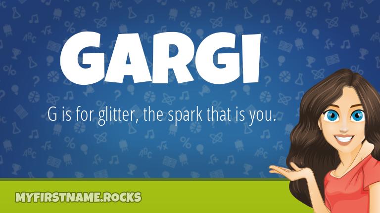 My First Name Gargi Rocks!