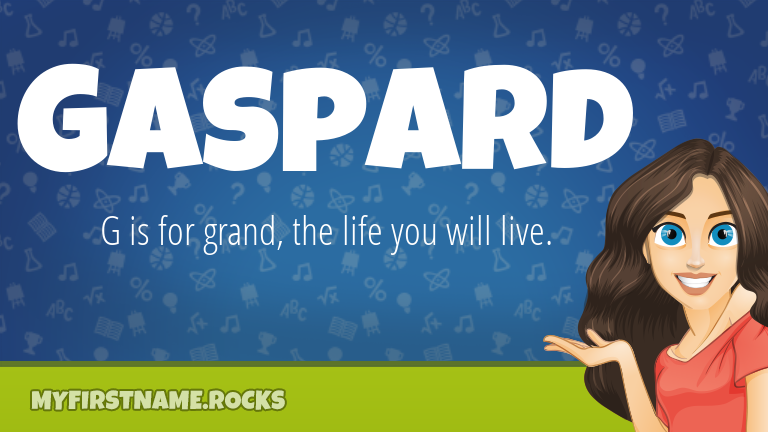 My First Name Gaspard Rocks!