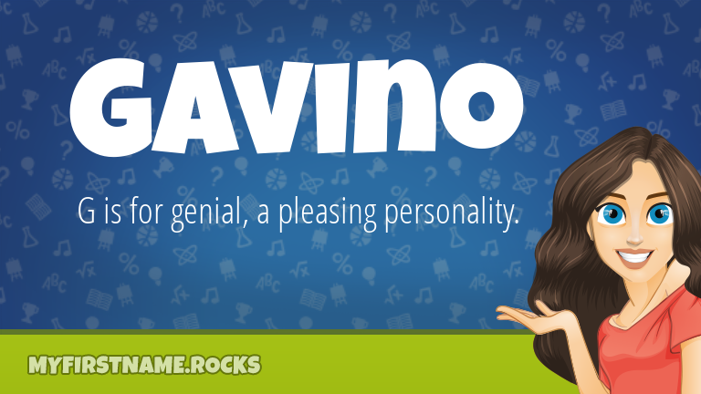 My First Name Gavino Rocks!