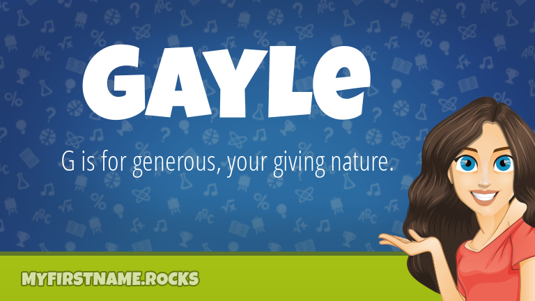 My First Name Gayle Rocks!