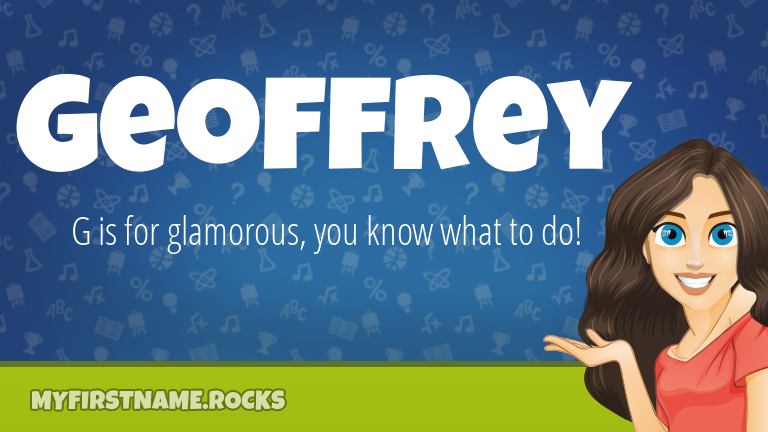 My First Name Geoffrey Rocks!