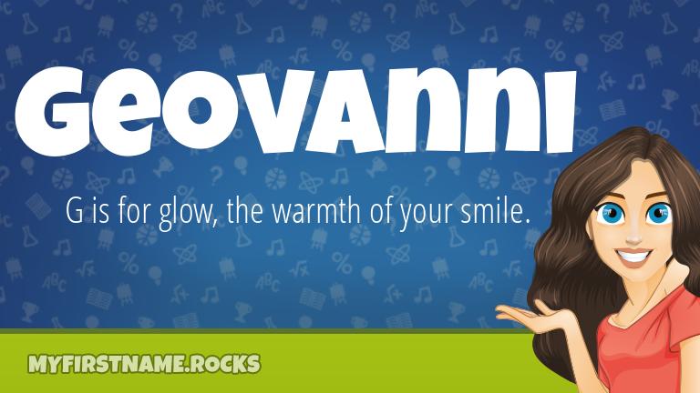 My First Name Geovanni Rocks!