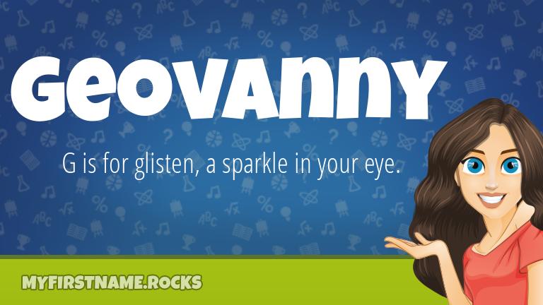 My First Name Geovanny Rocks!