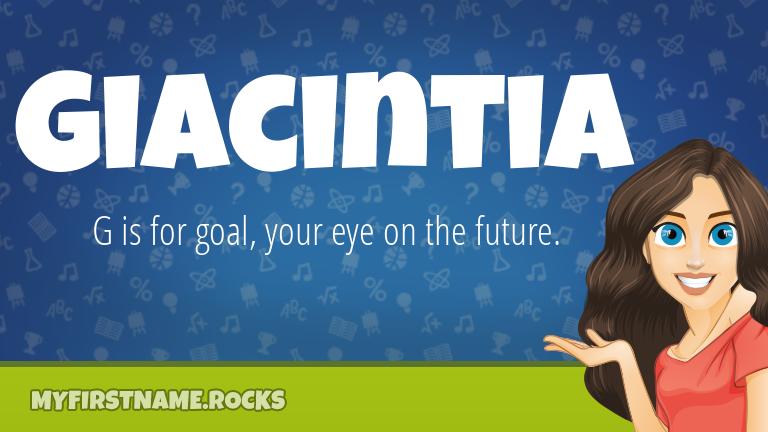My First Name Giacintia Rocks!