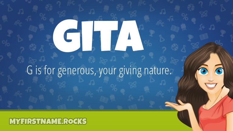 My First Name Gita Rocks!