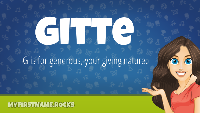 My First Name Gitte Rocks!