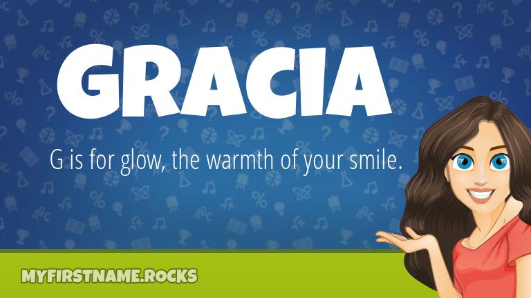 My First Name Gracia Rocks!