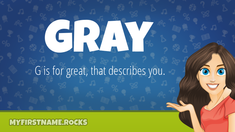 My First Name Gray Rocks!