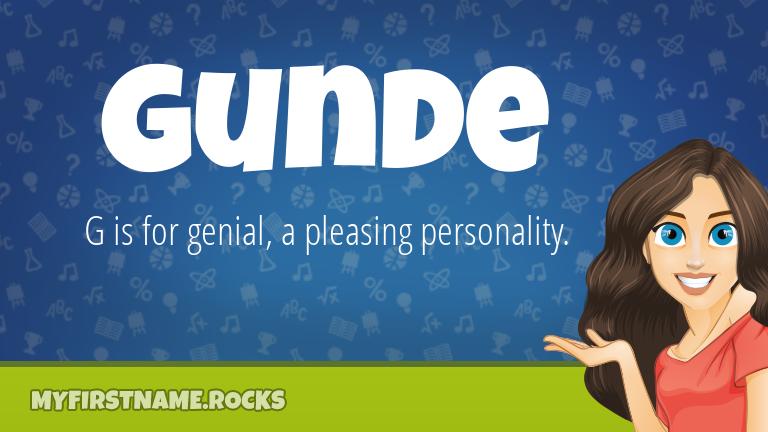 My First Name Gunde Rocks!