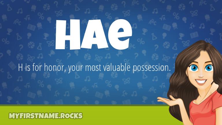 My First Name Hae Rocks!