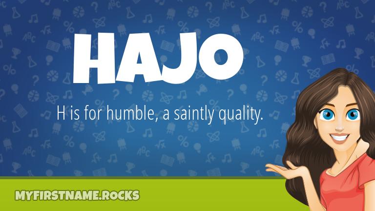 My First Name Hajo Rocks!