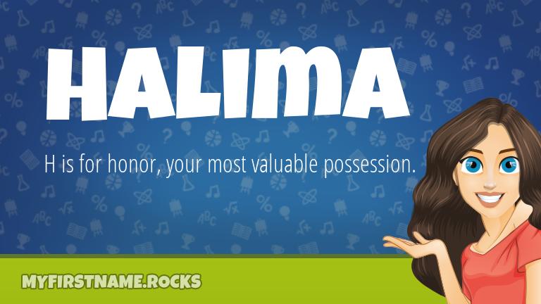 My First Name Halima Rocks!