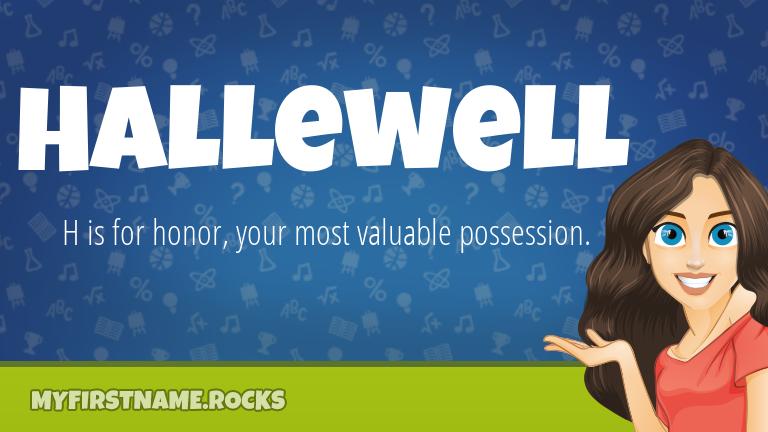 My First Name Hallewell Rocks!