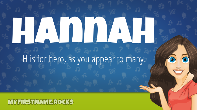 My First Name Hannah Rocks!