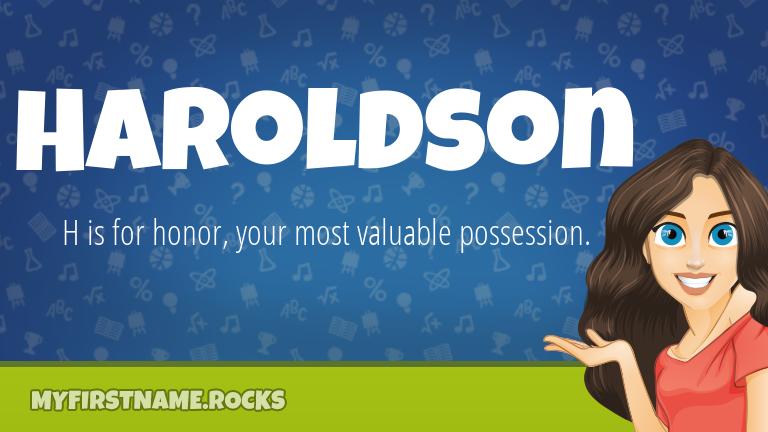 My First Name Haroldson Rocks!