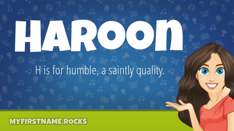 My First Name Haroon Rocks!
