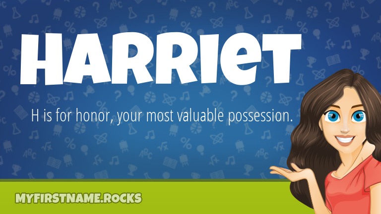 My First Name Harriet Rocks!