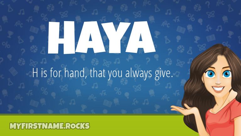 My First Name Haya Rocks!
