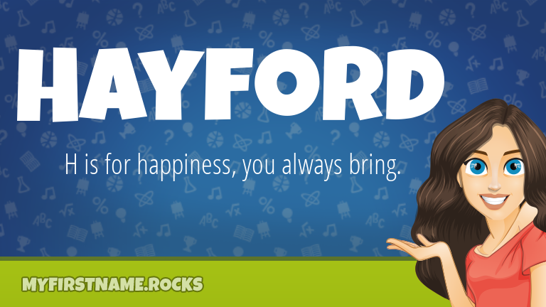 My First Name Hayford Rocks!