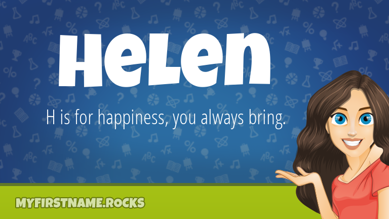 My First Name Helen Rocks!