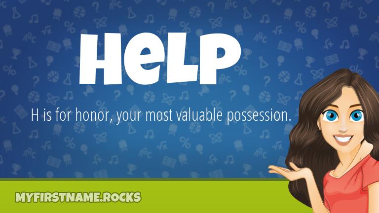 My First Name Help Rocks!