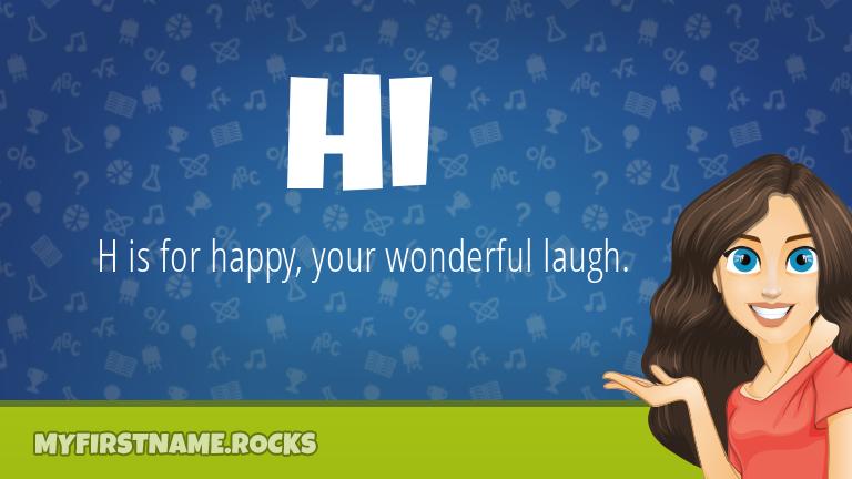My First Name Hi Rocks!