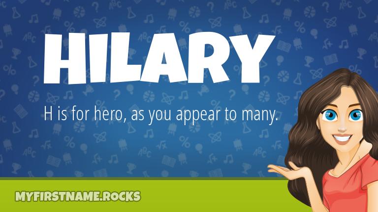 My First Name Hilary Rocks!