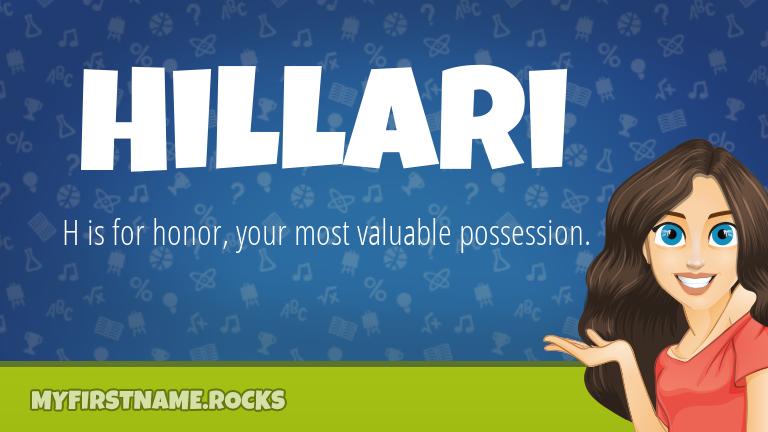 My First Name Hillari Rocks!