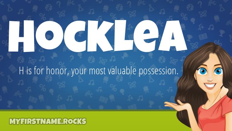 My First Name Hocklea Rocks!