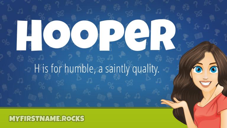 My First Name Hooper Rocks!