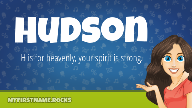 My First Name Hudson Rocks!