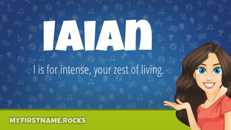 My First Name Iaian Rocks!
