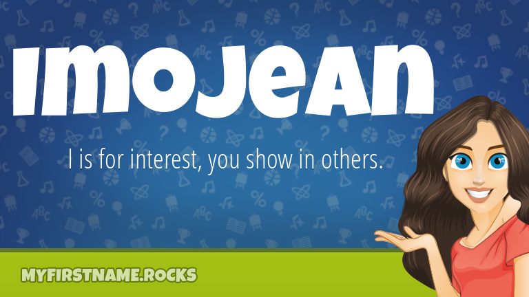 My First Name Imojean Rocks!