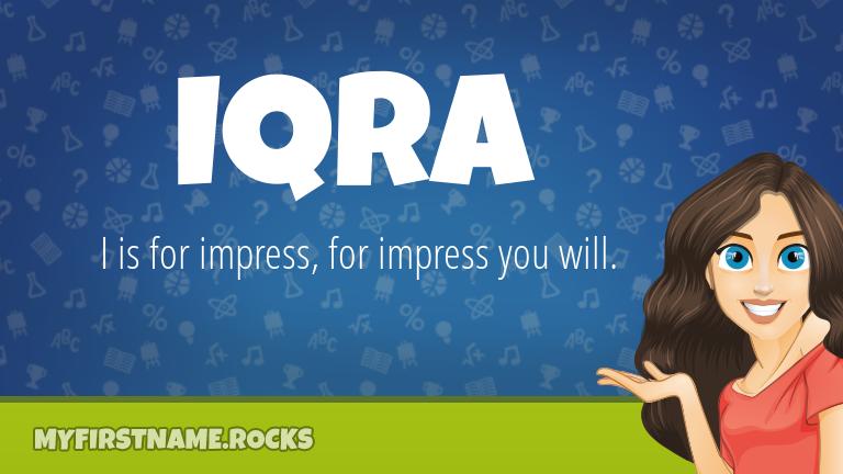 My First Name Iqra Rocks!