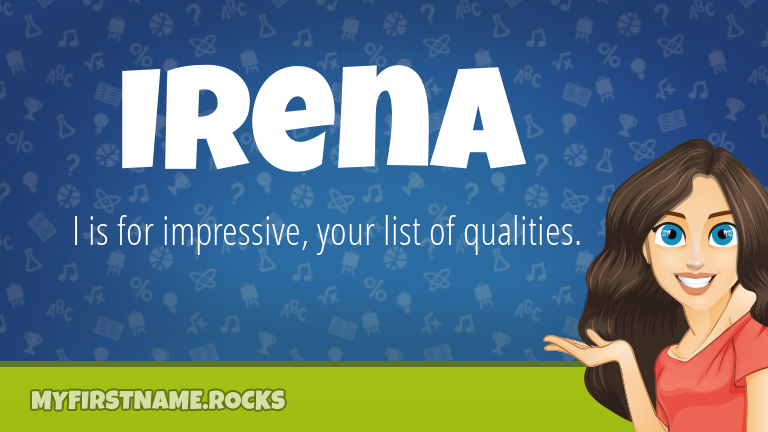 My First Name Irena Rocks!