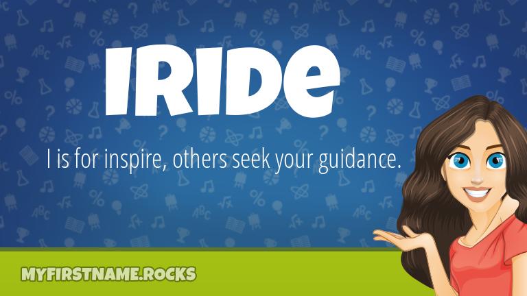 My First Name Iride Rocks!