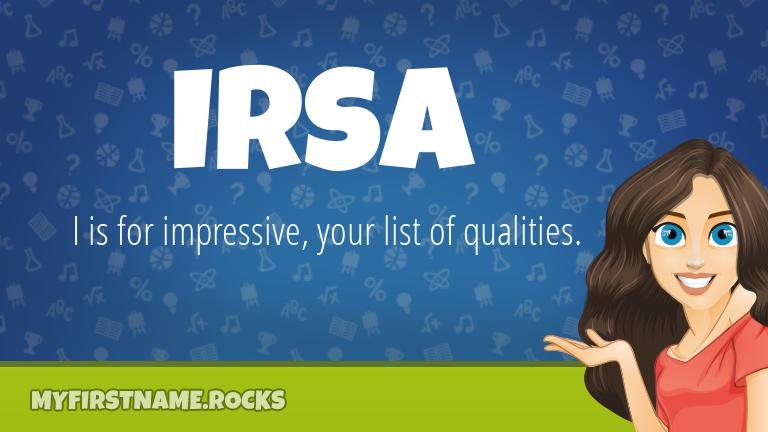 My First Name Irsa Rocks!