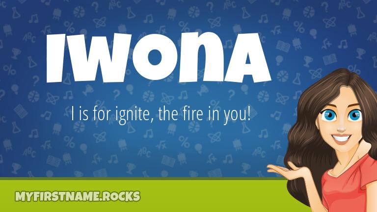 My First Name Iwona Rocks!