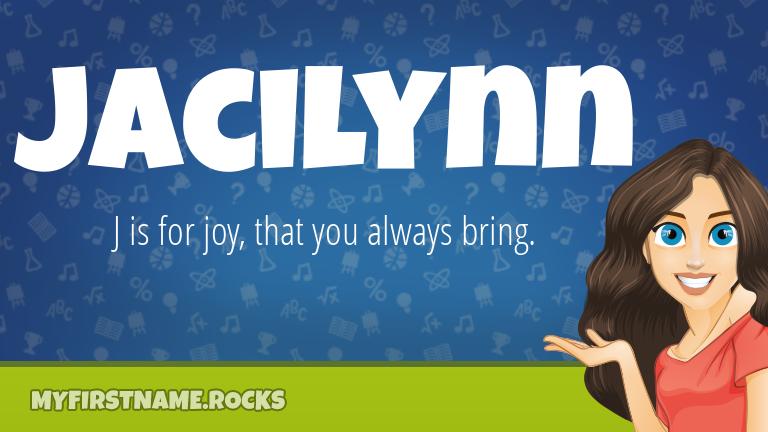 My First Name Jacilynn Rocks!