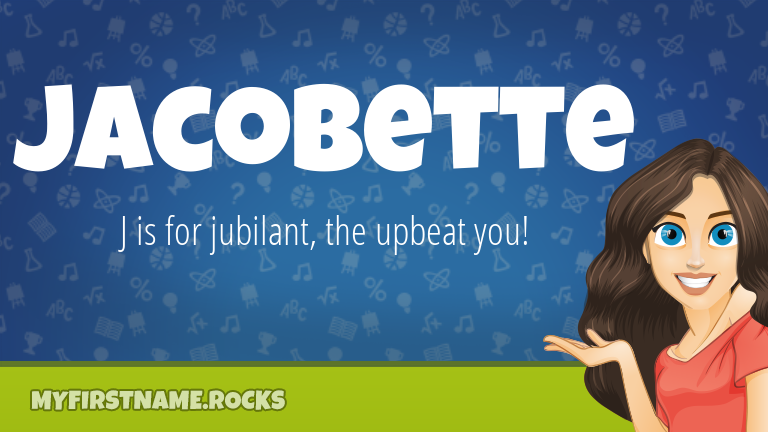 My First Name Jacobette Rocks!